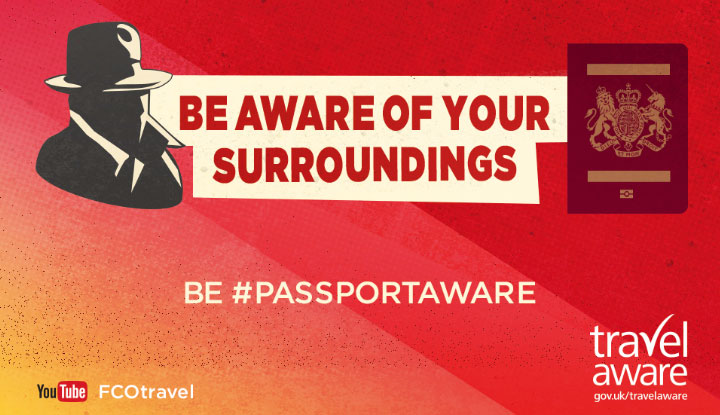 Travel Aware - Be aware of your surroundings